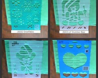 Plaid Simply Stencils #H3 - Holiday Stencils - Valentines Day,  Christmas -  1 pc