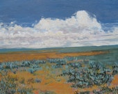 Etsy Art on Canvas- Original artwork- plains painting, by Foust