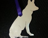 German Shepherd Aluminum Christmas Ornament