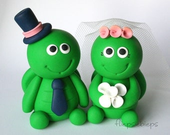 Customise Turtle Wedding Cake Topper
