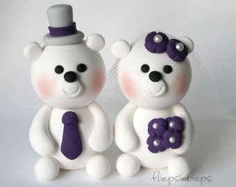 Custom Polar Bears Wedding Cake Topper