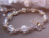 Bridal Bracelet, Swarovski Crystal Bracelet, Wedding Bridal Bracelet, Bridesmaids Jewelry  – 5041