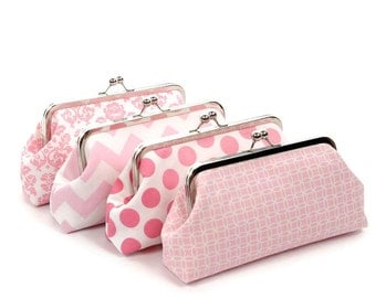 Bridesmaid Gift Set/Bridesmaid Clutches/Pastel Bridesmaid Clutches