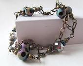 Sparkling Glass Bead Bracelet