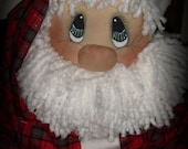Primitive Raggedy Patches Santa 121 PAPER PATTERN Holiday Christmas HAFAIR Faap