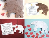 20 Seed Paper Bears - Plantable Paper Flower Seed Polar Bear Favors - Brown Bears - Kids Birthday - Baby Shower Favor