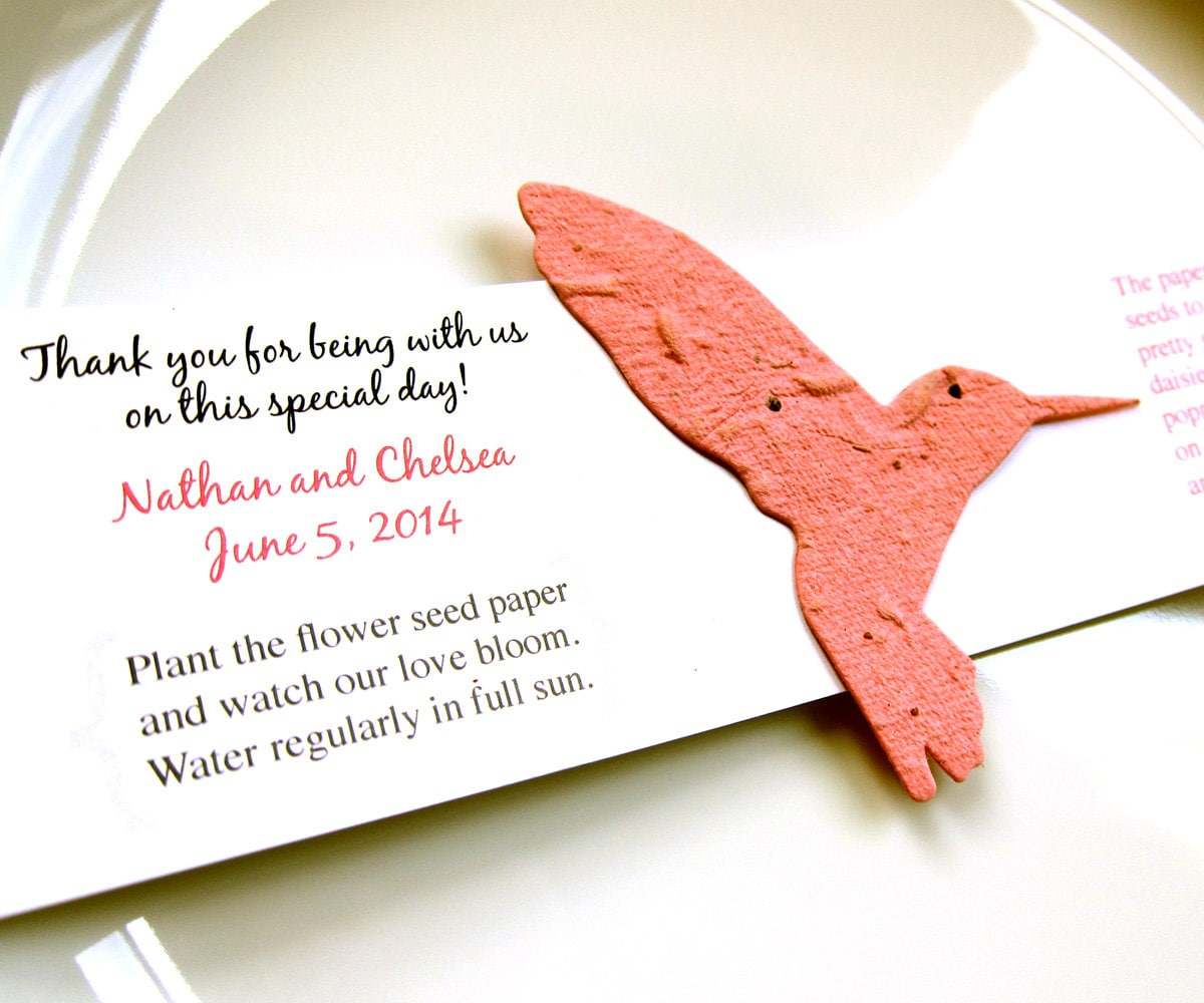 Plantable Seed Paper Wedding Favors 100 Wedding Favor Flower Seed