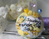 Patchwork Pincushion Ring, Sewing Mends the Soul