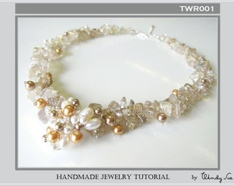 Wired Cluster Pendant Necklace Tutorial TWR001