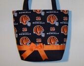 Cincinnati Bengals purse/tote bag handmade