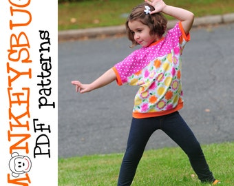 Rad Retro Dolman Tee Shirt PDF eBook Pattern INSTANT DOWNLOAD