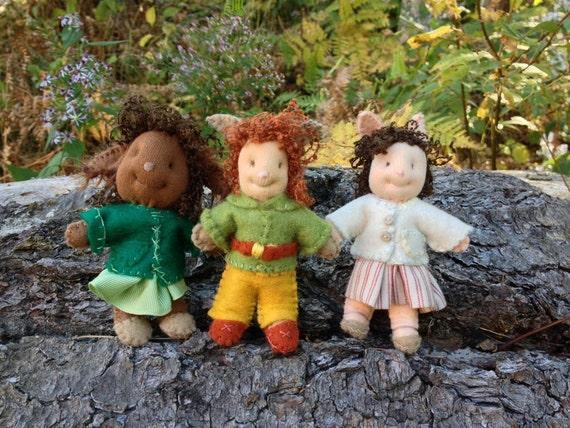 Tidbit Faeries, Hapennies and Trolls, make dolls, pins or ornaments