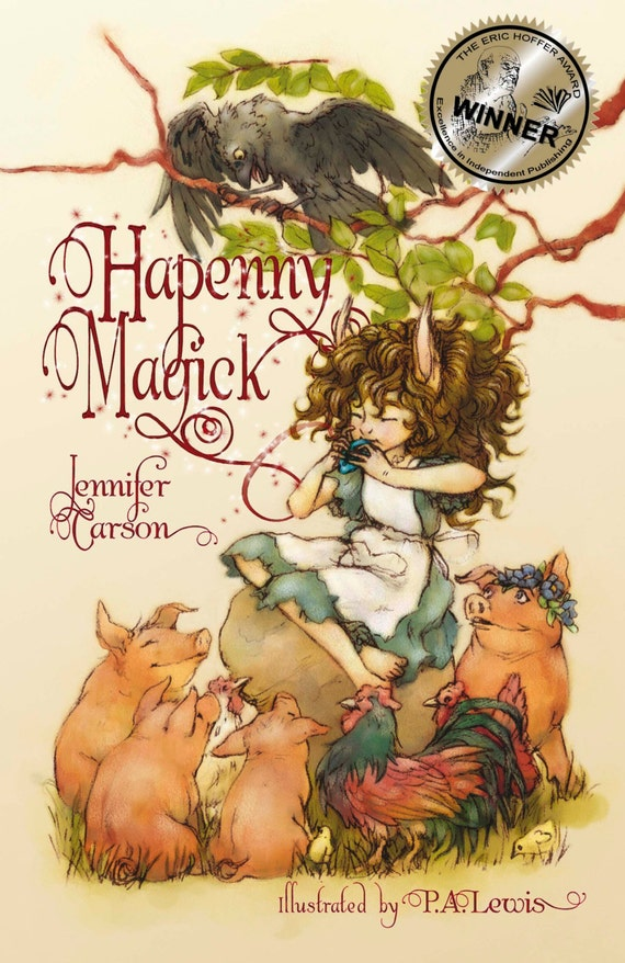 Available to ship, Hapenny Magick, award winning children's book, autographed and personalized