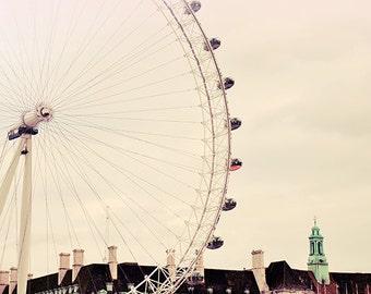 Cloud Rush - London Eye Landscape Photography Print