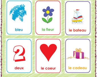Handy image regarding printable french flashcards