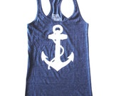 Womens NAUTICAL ANCHOR Tank Top