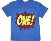 Kids SUPERHERO First Birthday T-shirt
