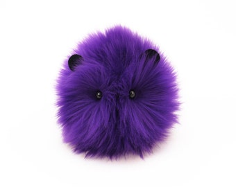 Stuffed Animal Guinea Pig Cute Plush Toy Guinea Pig Kawaii Plushie Bart the Purple Guinea Pig Snuggly Cuddly Faux Fur Toy Small 4x5 Inches