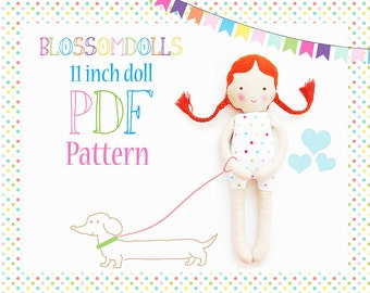 Stoff-Puppe Schnittmuster - PDF - einfaches Tutorial - sofort-Download