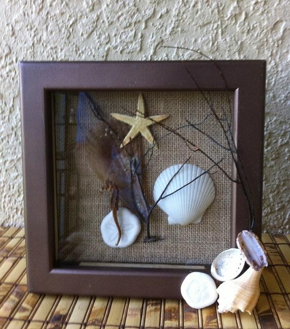 Beach Themed Shadow Box Ideas: Shadow Box Beach Decor Shadow Box Seahorse Starfish Sea