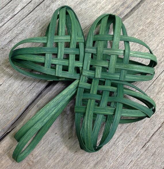 https://www.etsy.com/listing/176970689/shamrock-woven-ornament-lucky-clover