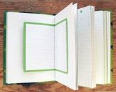 Memento Vivere -  Mixed Paper Journal - 6.5 x 9 inch - Travel Journal, Green Journal