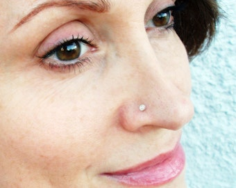 Diamond Nose Stud Etsy