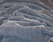 SILK Velvet fabric 28 percent silk 72 percent rayon - lovely DUSKY BLUES for fiber arts doll clothes collage mixed media