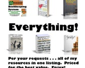 Every Resource offerred by JJMFinance - The EVERYTHING Bundle - Best Value - Tax - Bookkeeping - Spreadsheet