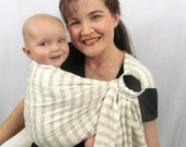Ring Sling Baby Carrier - Pure Tencel Textured Stripe - DVD included