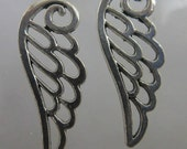 Angel wings Jewelry supplies silver wings pendant  Charms   Pendant   jewelry findings quantity 2 (K8)