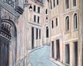 Shadows of Paris french blue street neutral beige champagne gray urban landscape