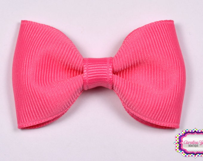 "Hot Pink 2.5"" Hair Bow Tuxedo Bow Simple Bow Boutique Bow for Babies Toddlers Girls Hair Bows"
