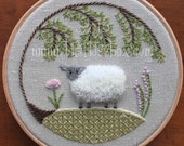 Sheep Crewel Embroidery Pattern