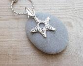 Pebble and Starfish Keychain / Bag adornment