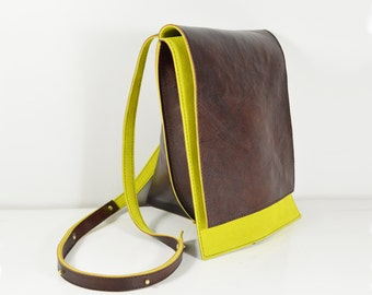 Celeste - Handmade Brown Leather Hide Shoulder Bag Purse AW14