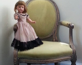 Haunted Doll, Maine, Sols Cliff, Castle, Vintage Glass Eyed Doll, Dusty  Pink, Green, By Paper-Mâché Dream Photography,fPOE