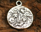 Holy Birth with Angels in Sterling Silver -65