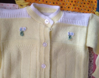 70s Baby Cardigan 6-9 Months