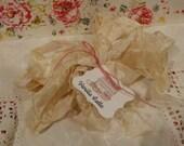 Hand Dyed Seam Binding Crinkle Ribbon Vanilla Latte