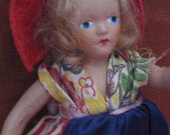 composition doll vintage storybook doll