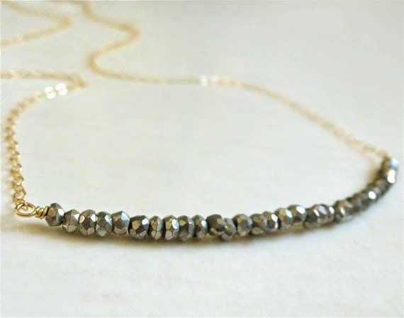 Sorrento Necklace with Charcoal Pyrite Winter Fashion