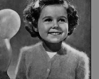 Vintage Girls Bolero, Knitting Pattern, 1950/1960 (PDF) Pattern, P&B 829