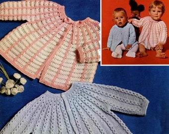 Vintage Baby's Matinee Jackets, Knitting Pattern, 1960 (PDF) Pattern, Patons 6042