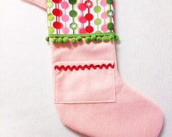 Christmas Stocking - Pick Your Own Pocket Peeper - Sugar Drop
