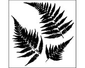 Mini Ferns 6x6 Crafters Workshop Stencil (243S) - for cookies, cakes, cardmaking, mixed media, paper-arts, spraying, chalking, scrapbooks