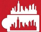 New York Skylines Stencil Set for Cookies & Cake Sides - Designer Stencils (C757)