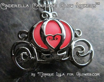 Pink Cinderella Carriage Glow Locket Pendant