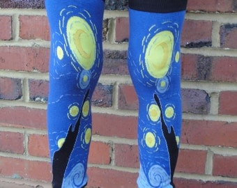 On SALE - STARRY Night - Arm / Leg Warmers for Baby, Toddler, Child, Tween Boy or Girl - Fun and Functional Fashion