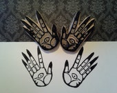 Pan's Labyrinth Pale Man Hands - Set of 2 Handmade Rubber Stamp